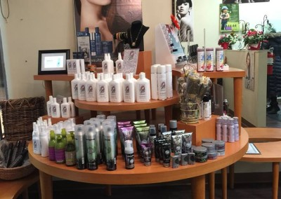 lucia salon product display